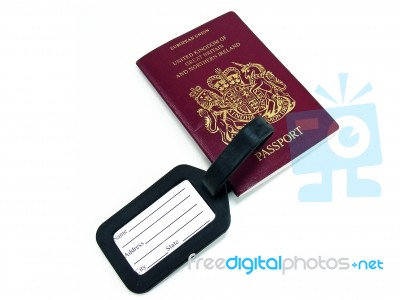Passport And Tag Stock Photo